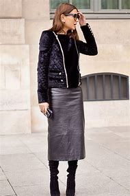 Leather Pencil Skirt Fashion