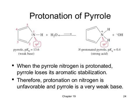 Protonated Amine by 19 Amines Wade 7th