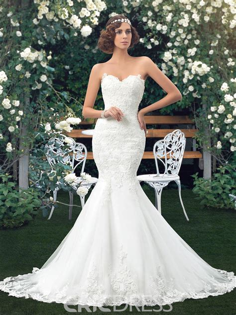 Wedding Dress Sweetheart Applique Mermaid 11176047