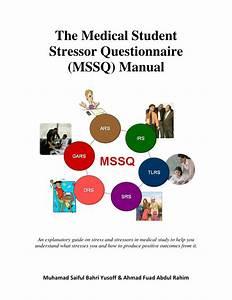 Pdf  The Medical Student Stressor Questionnaire  Mssq  Manual