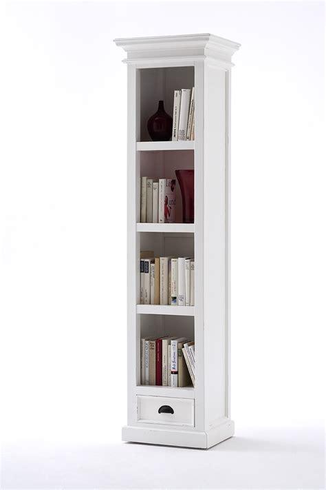 Narrow Bookcase 47 slim bookcase white white bookcase with doors