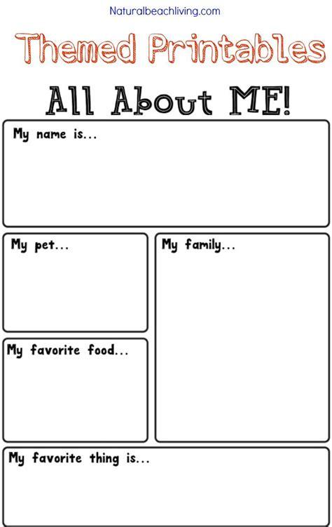all about me activity theme for preschool kindergarten