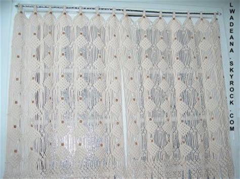 rideau macramé cuisine rideau etendu au macrame fenetre de cuisine de lwadeana