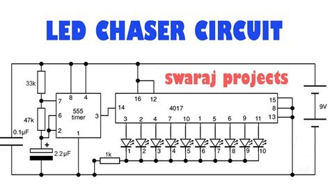 led light chaser circuit diagram how to make led chaser circuit running lights chaser