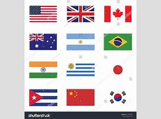 Flag Icon Set Set Flag America Stock Vector 353448494