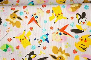 pokemon fabric pikachu half meter