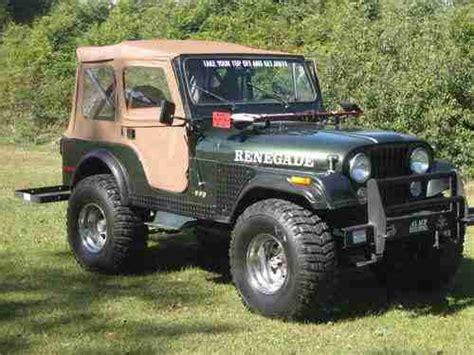 used jeep renegade sell used 1978 jeep renegade 4x4 cj5 in savannah georgia