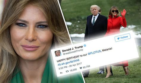 Donald Trump made one big mistake in his birthday tweet to Melania