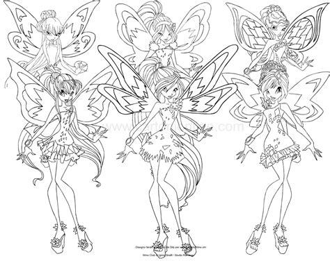 disegni da colorare winx disegno delle winx club tynix da colorare
