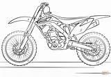 Coloring Bike Pages Motocross Kawasaki Printable Drawing Paper sketch template