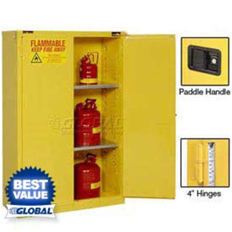 gas can storage cabinet flammable storage cabinets at globalindustrial com