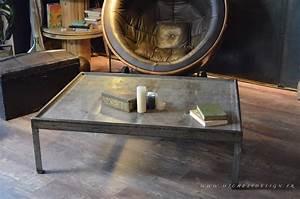Pied De Table Basse Metal Industriel : table basse industrielle mobilier industriel micheli ~ Teatrodelosmanantiales.com Idées de Décoration