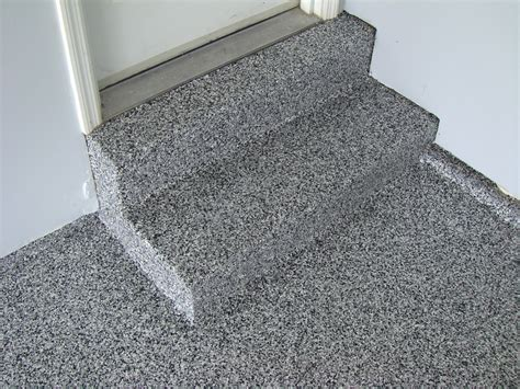 Granite Garage Flooring on Inside Steps