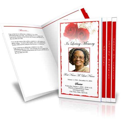 select  funeral program design  layout elegant memorials