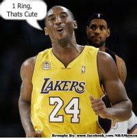 1 Ring Thats Cute LAKERS 24 Brought by ...