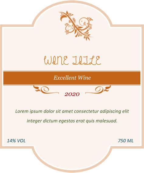 Printable Wine Labels Free Templates by Wine Label Template Make Your Own Wine Labels