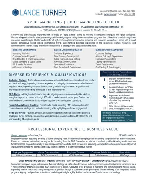 Executive Resume by Marketing Executive Career Steering Premium Executive