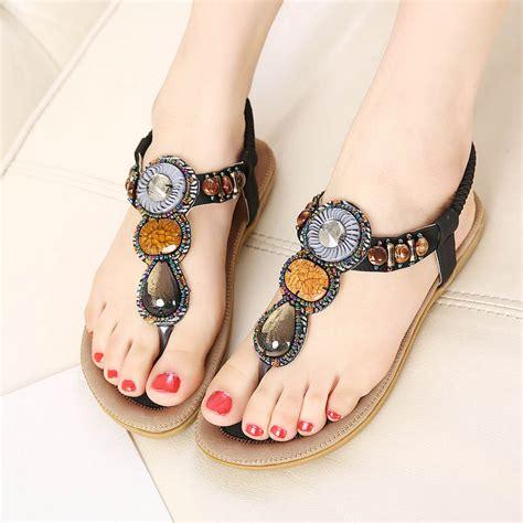 siketu womens bohemia beaded beach sandals