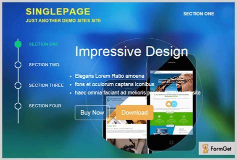 Single Page Theme 5 Single Page Themes 2018 Formget