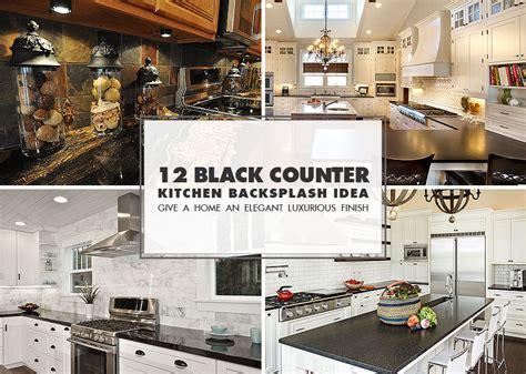 Black Countertop Backsplash - 50 black countertop backsplash ideas tile designs tips