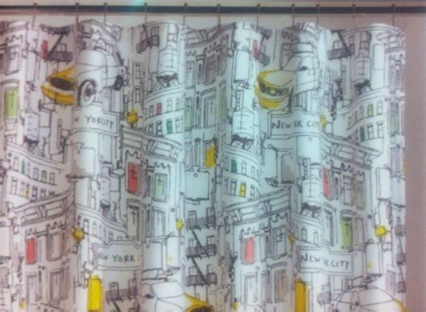 Fabrics For Curtains Nyc by Dkny Broadway New York Fabric Shower Curtain New Ebay