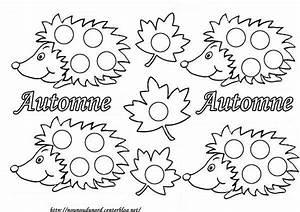 Feuilles D Automne à Imprimer : coloriage automne herisson ~ Nature-et-papiers.com Idées de Décoration