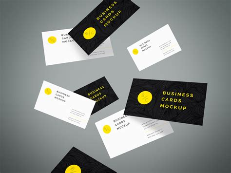 Flying Business Cards Mockup By Graphberry On Band Business Card Example Holder Refill Sheets Ideas Simple Examples Instagram Halloween A-z Request Sample Letter For Carpenters