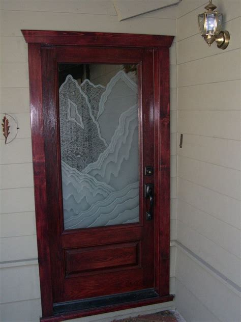 Rugged Retreat Entry Glass Door Inserts Sans Soucie