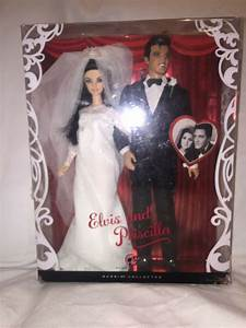Collectible 2008 Elvis And Priscilla Barbie Doll Gift Set Mib Pink Label 27084547450