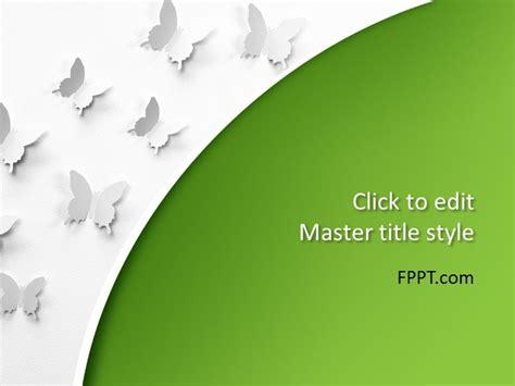 butterflies powerpoint template  powerpoint