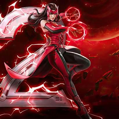 Witch Scarlet Marvel Super War Background 4k