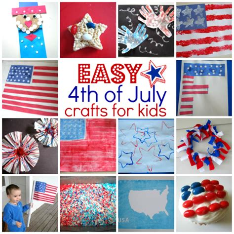 Easy 4th Of July Crafts For Kids  No Time For Flash Cards