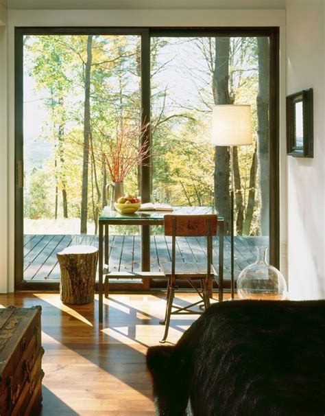 minimalist bedroom  view  nature
