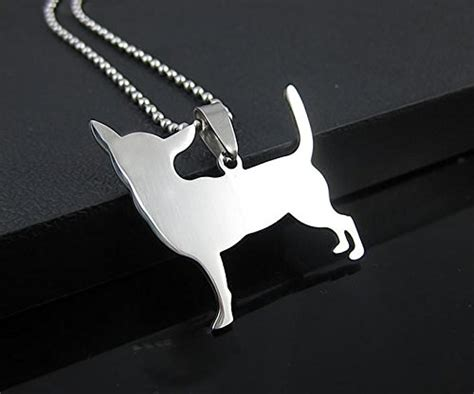 stainless steel chihuahua silhouette dog silhouette pet