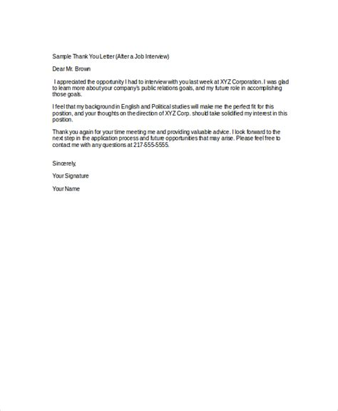 thank you letter for job interview sample of a thank you letter after 25105 | bunch ideas of thank you letter after interview 7 free word pdf documents in sample of a thank you letter after job interview of sample of a thank you letter after job interview