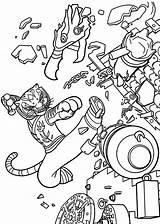 Panda Coloring Fu Kung sketch template