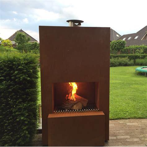 Outdoorgarten Kamin Feuersäule Pinacate In Corten Stahl