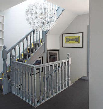 grey staircase banister  white walls house  dublin