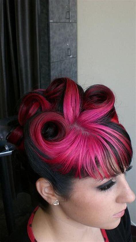 pink  black hairstyles