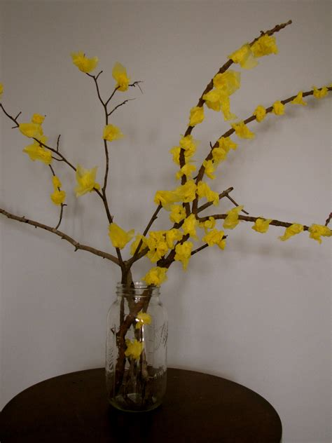 spring tree craft forsythia creekside learning
