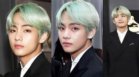 [nb] Bts V's Green Hair At The Grammys Earns Attention