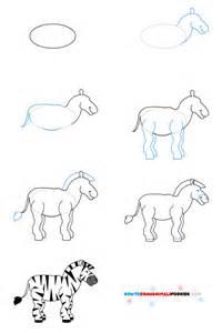 How to Draw a Zebra Kids