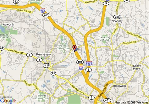 Map Of Sun Suites Kennesaw Atlanta North I 75, Kennesaw