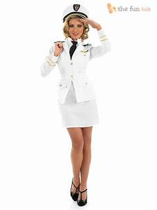 Womens 1940s Navy Officer Ladies Sailor Costume Fancy ...