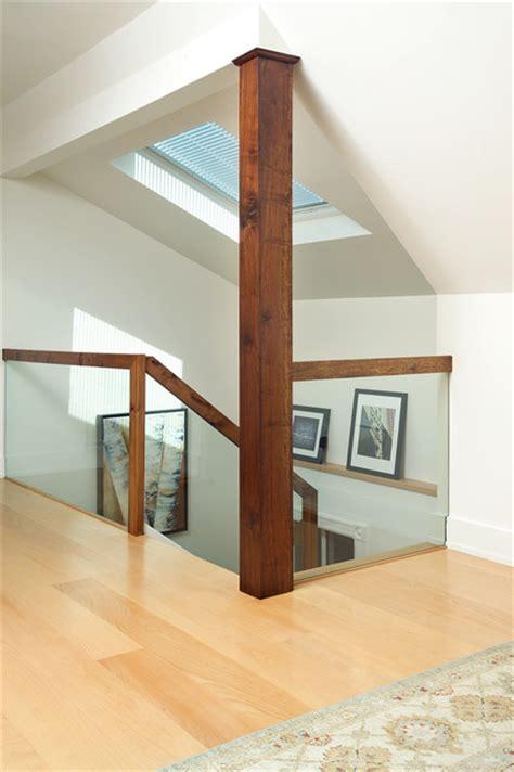 attic renovation modern staircase toronto  arnal