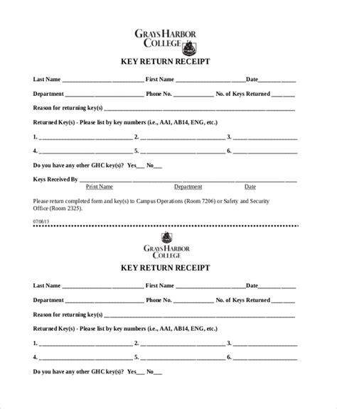 sample receipt form  documents