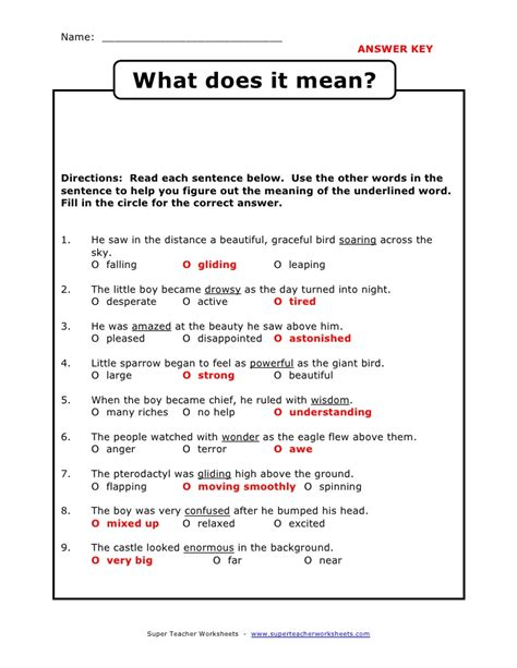 using context clues worksheet free worksheets library