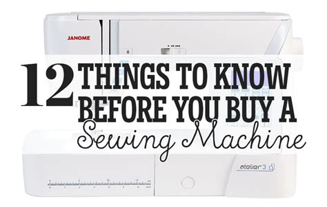 Things To Know Before You Buy A Sewing Machine-sewing
