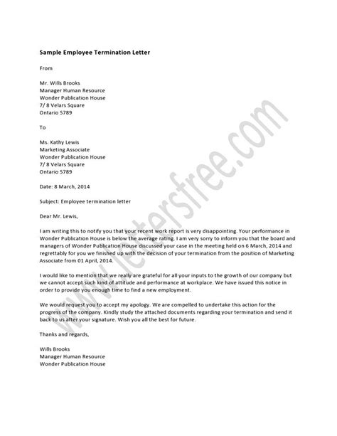 sample termination letter  breach  contract contoh