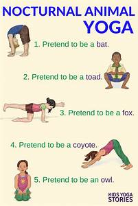 Nocturnal Animals Yoga (Printable Poster) | Kids Yoga ...
